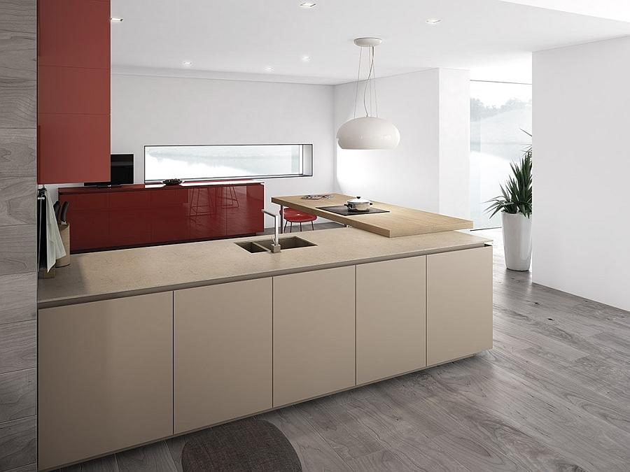 Elegant Kitchen island and serving area