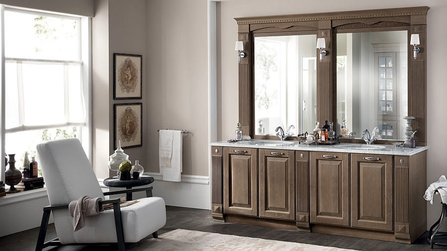 Elegant bathroom with Palette Oak composition