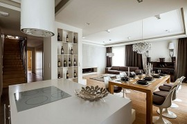 Exclusive Penthouse Showcases A Timeless Interior Draped In Luxury!