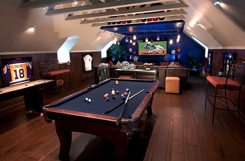 How to transform your attic into a fun game room Cool gaming room designs