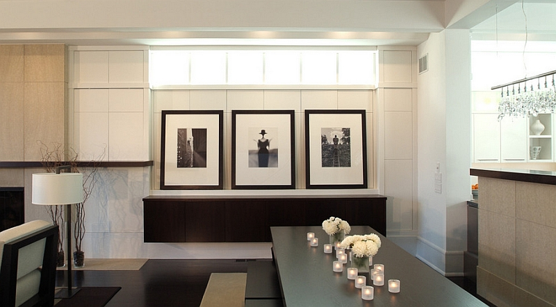 Fabulous dining room in black and white