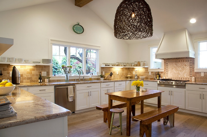 Fabulous kitchen of Woodside Mediterranean Country Home