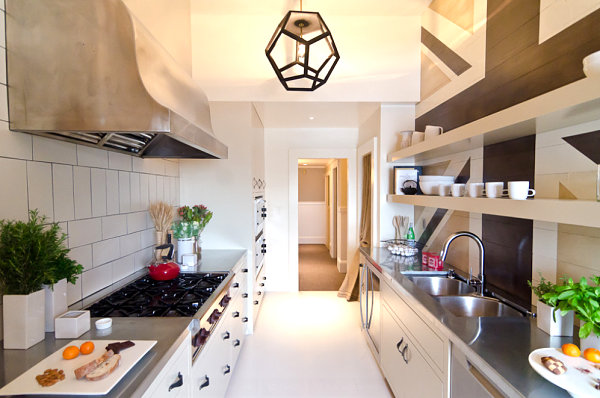 Fabulous modern kitchen with stainless steel countertops
