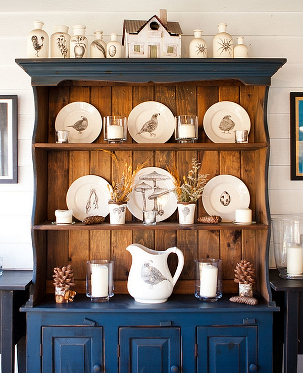 Farmhouse style dining room cabinets