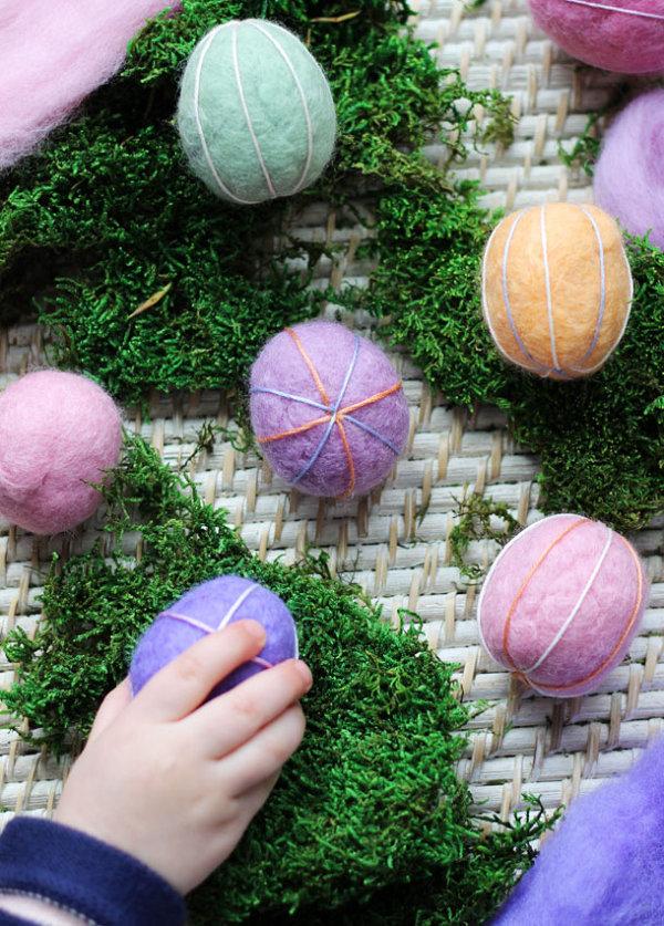Felt Easter egg DIY