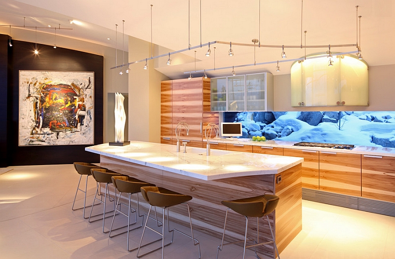 Fjord bar stools for a fun modern kitchen