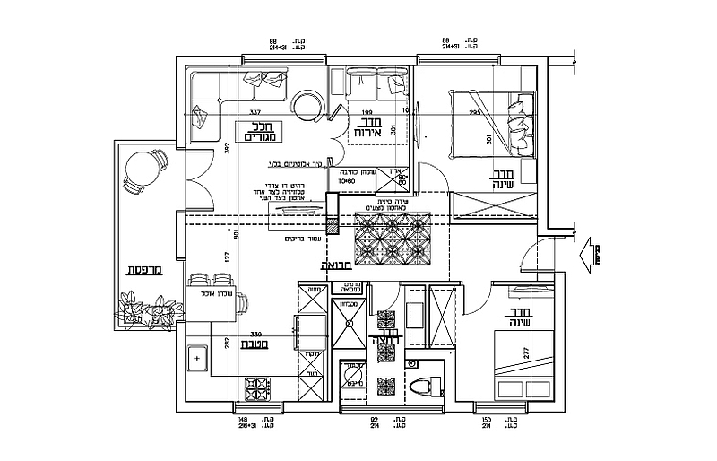 Floor plan of the Tel Aviv Apartment