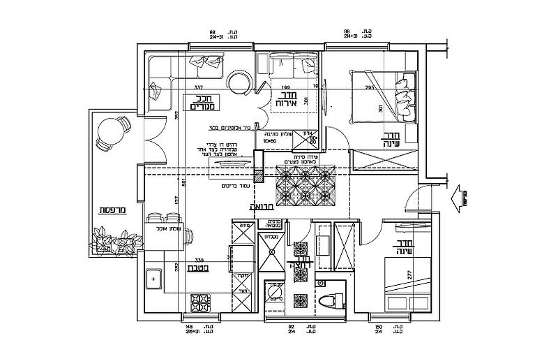 Floor plan of the Tel Aviv Apartment