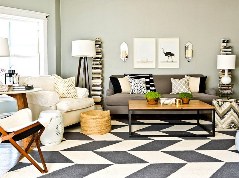 Chevron Pattern Ideas For Living Rooms: Rugs, Drapes and Accent Pillows