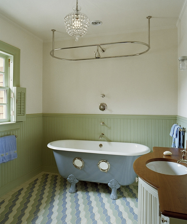 Colorful Bathtub Ideas Bathroom Decor Pictures - Clawfoot tub in small bathroom