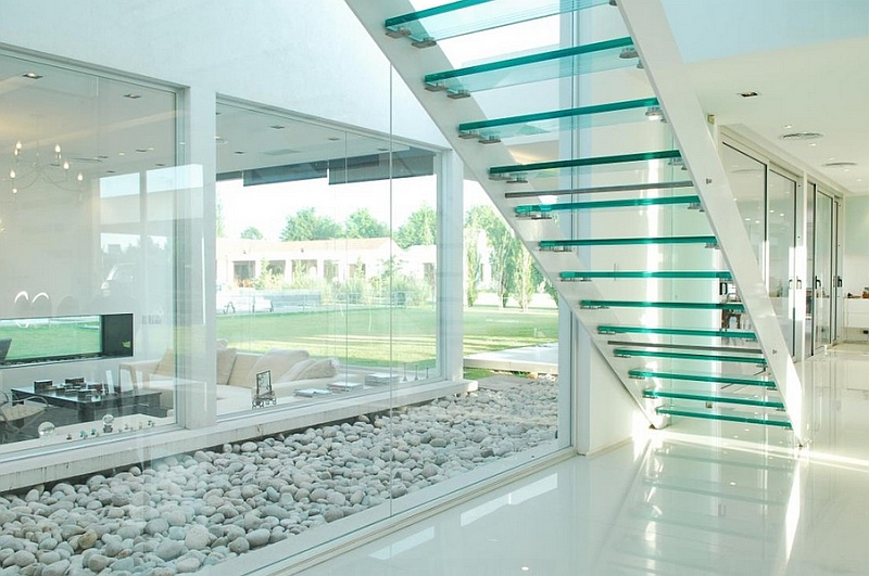Glass staircases lend visual lightness to any space they adorn