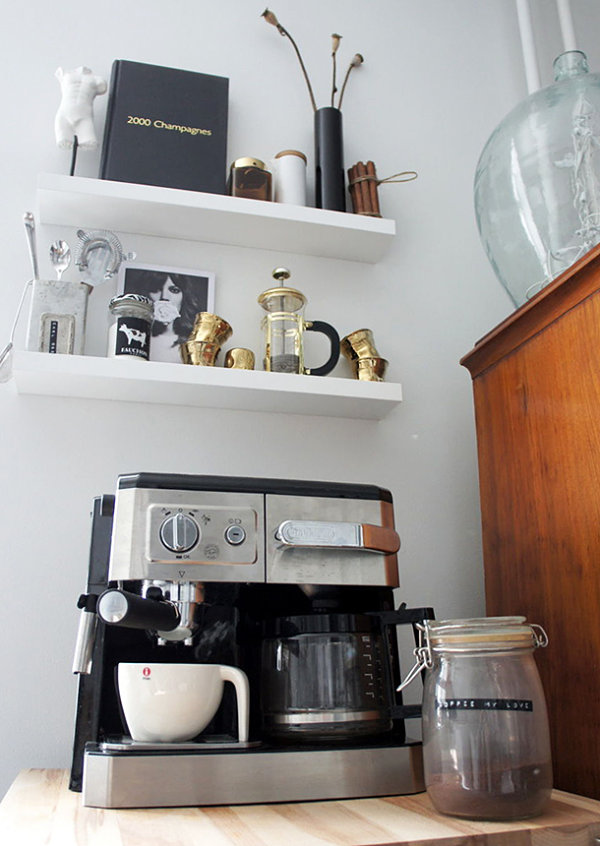 Gold-toned coffee service items