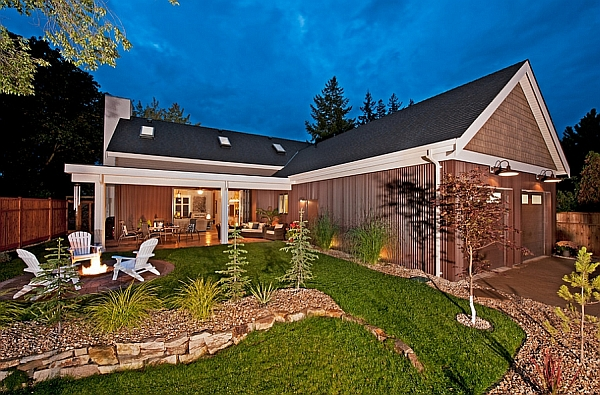 Gorgeous Patio of the Cottage Style Home in British Columbia