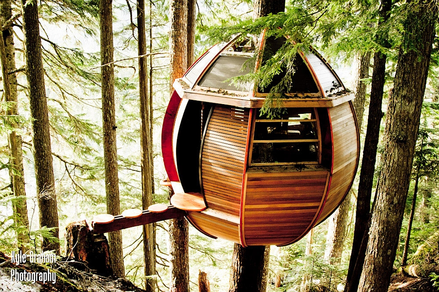 Gorgeous Treehouse cabin set among the forests of Canada