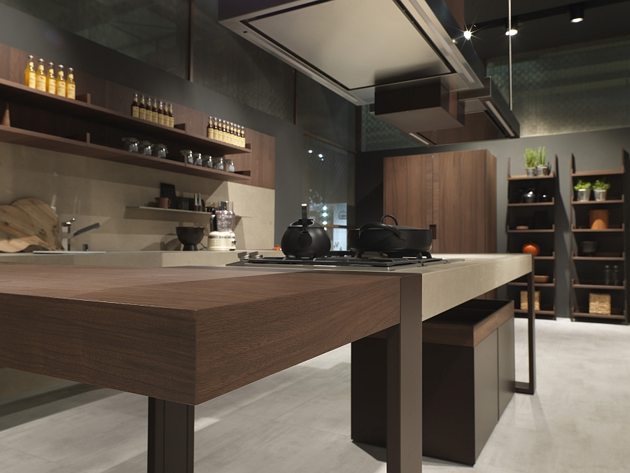 Gorgeous modern kitchen with a hint of Craftsman style Modern Italian Kitchen Designs: Pedini at Eurocucina 2014