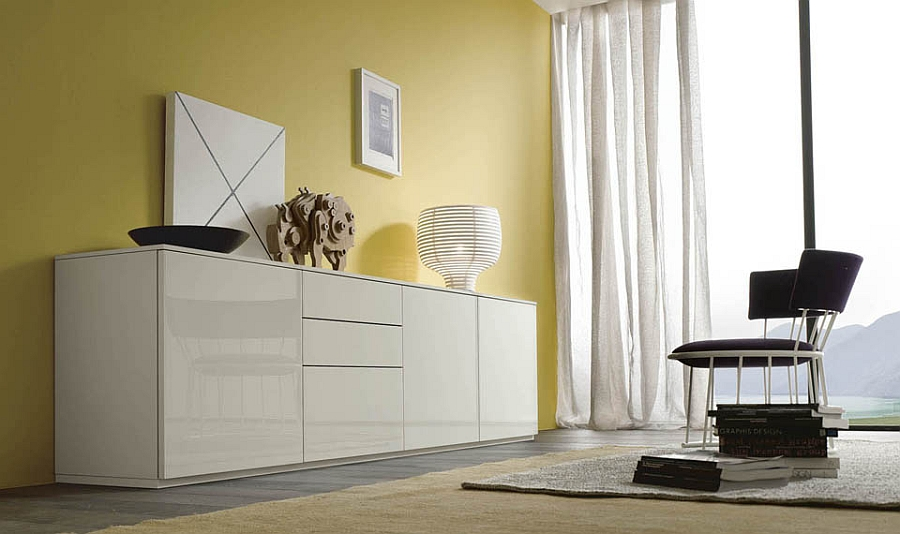 Gorgeous sideboard in lacqured white Sideboard Designs Served with Modern Flair