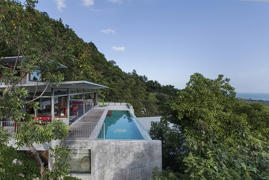 Grand exterior of the Naked House in Thailand