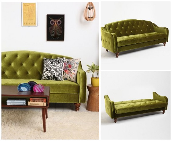 View in gallery Green sleeper sofa - Small And Stylish Sleeper Sofas
