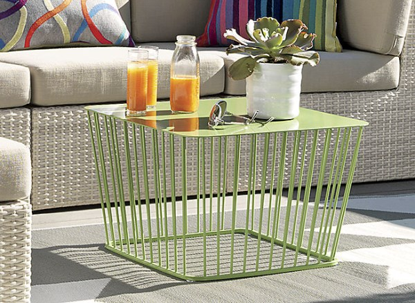 Green wire table