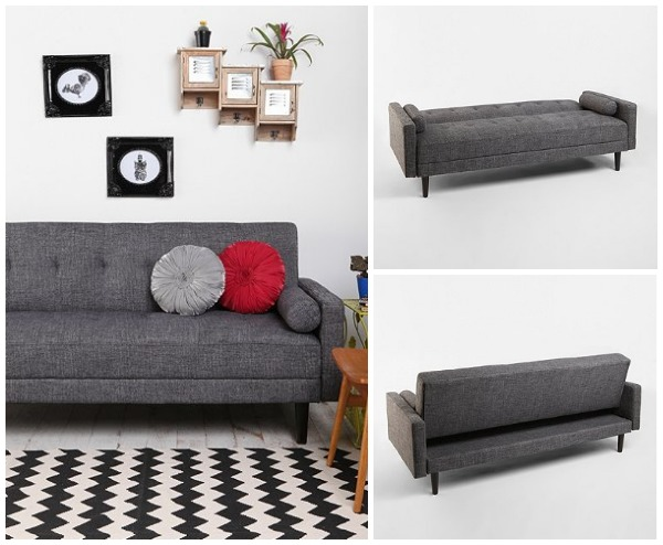 Grey sleeper sofa