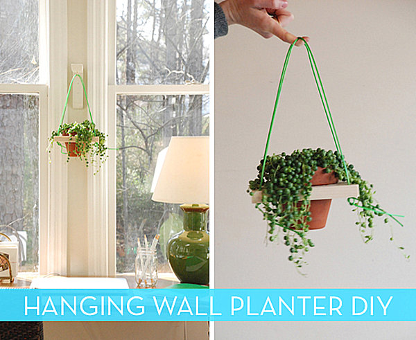 Hanging wall planter idea