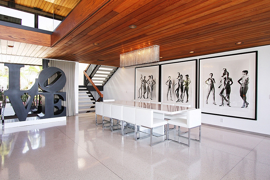 Iconic sculptural additions and wall art for the dining room