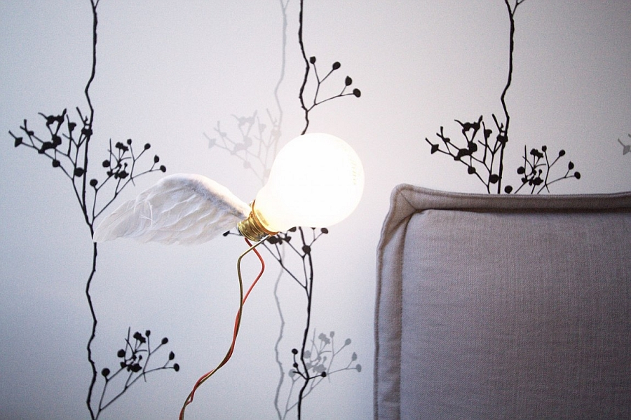Innovative bedside lighting fixture DIY idea