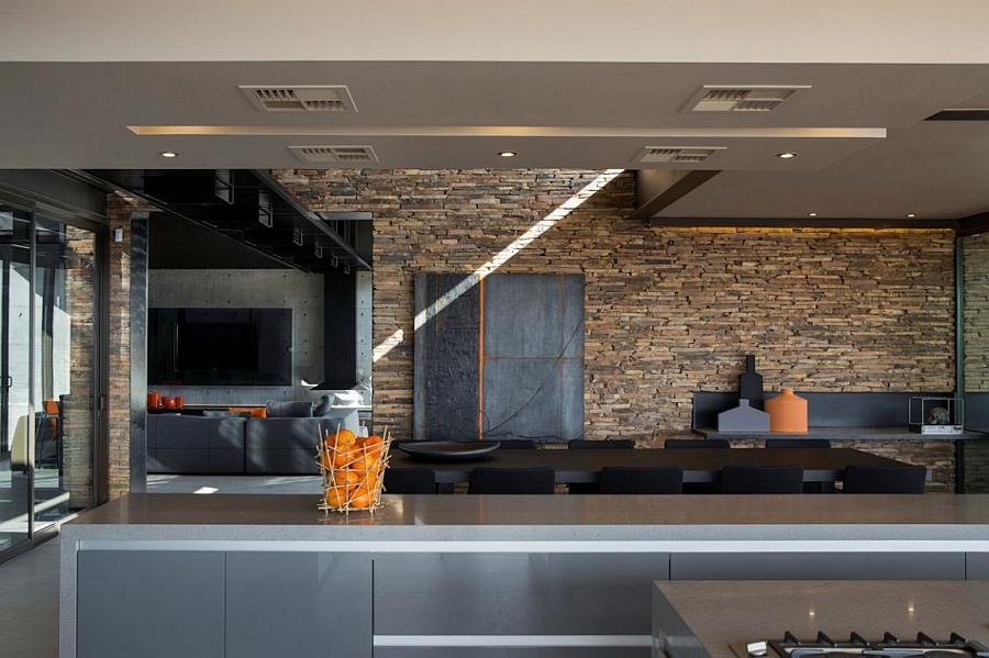Interior clad in warm, nuetral tones