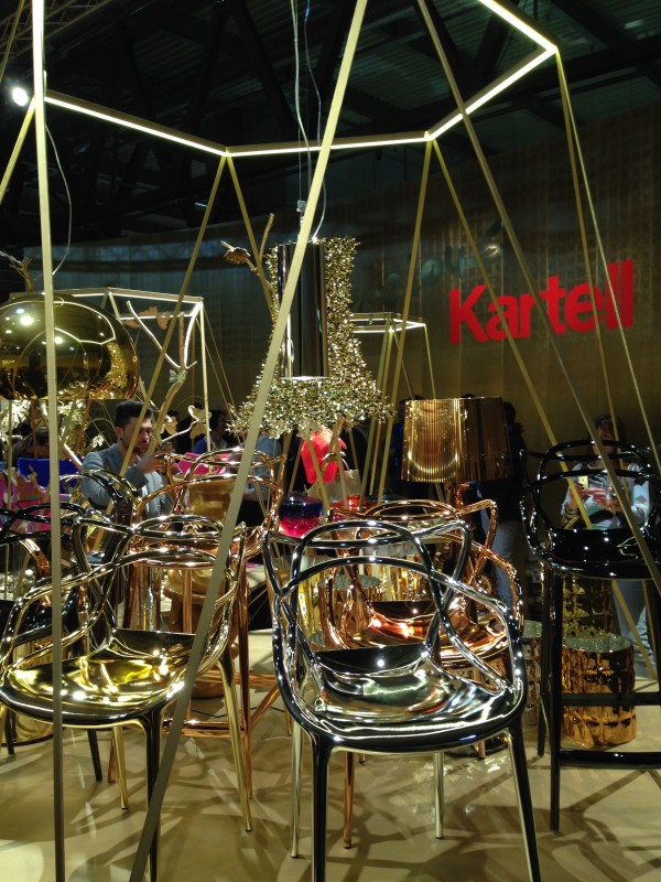 Kartell (gold furnishings) - iSaloni 2014