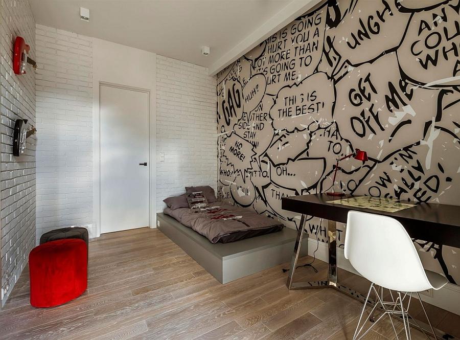 Kids' bedroom wall art inspired by comics