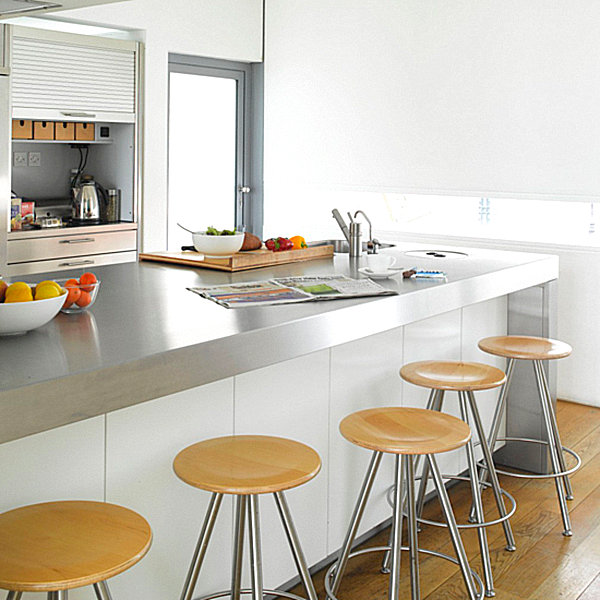 View In Gallery Kitchen With Stainless Steel Countertops