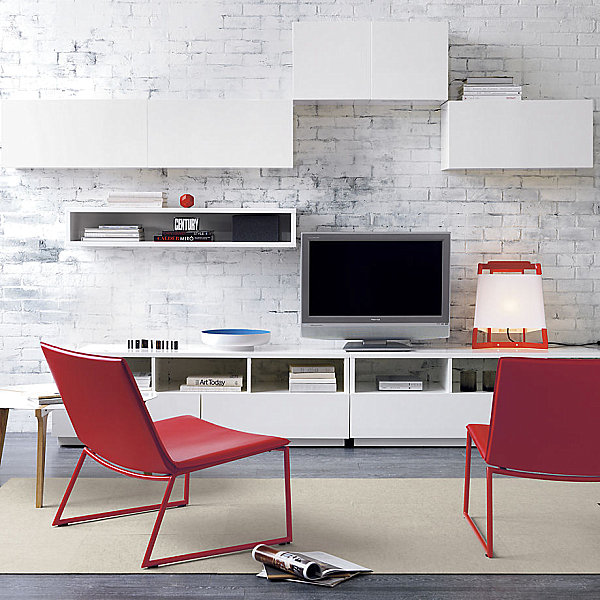 Lacquered media console
