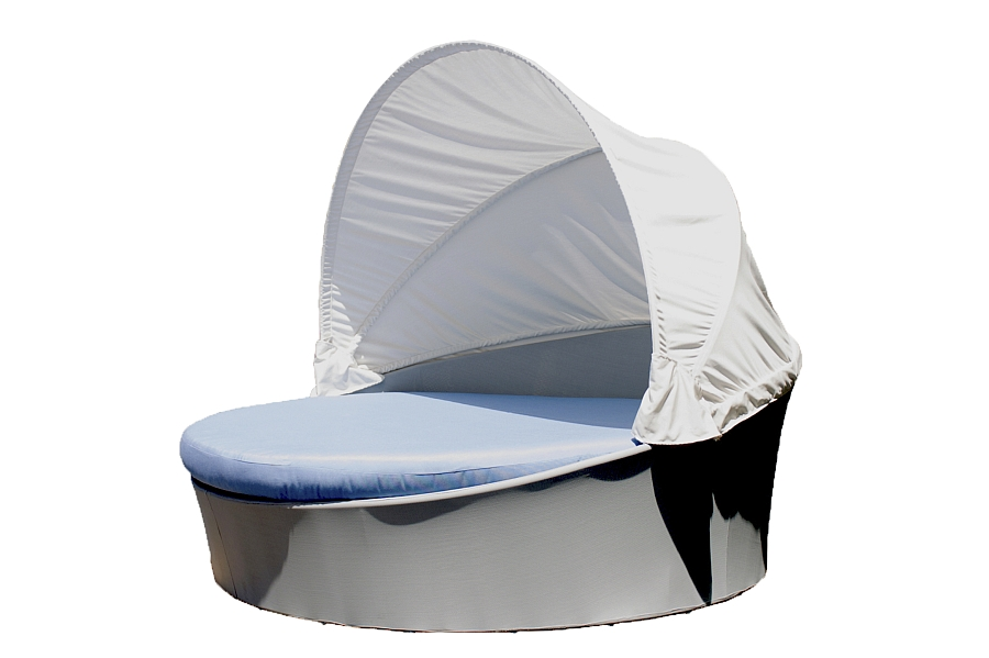 Large Aqua daybed with canopy