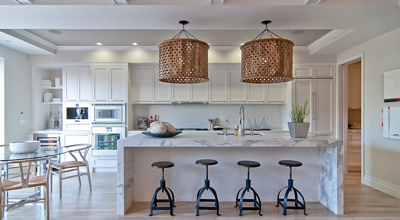 Large accent pendant lighting for modern kitchen