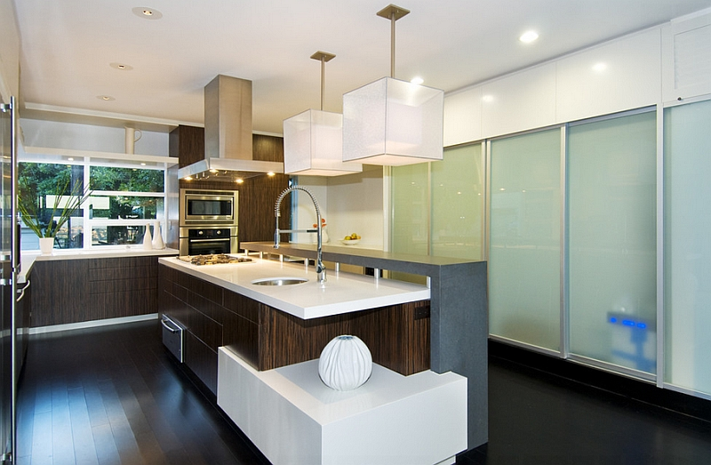 Kitchen Chandelier Over Island