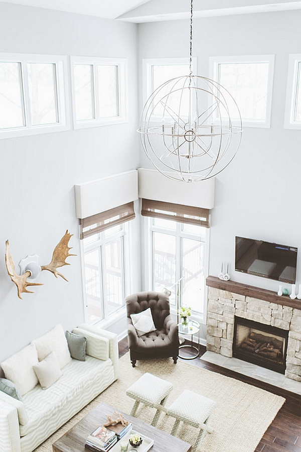 Large pendant for a living room with high ceiling