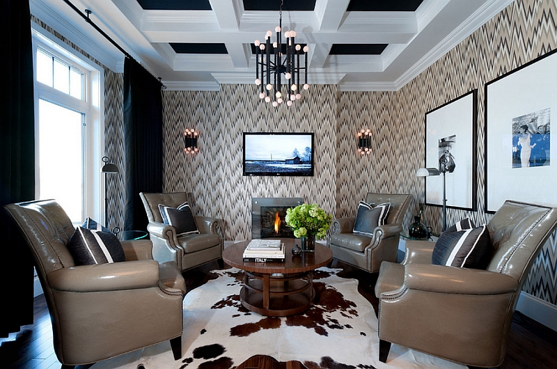 Merveilleux View In Gallery Living Room Walls That Are Both Fun And Posh!