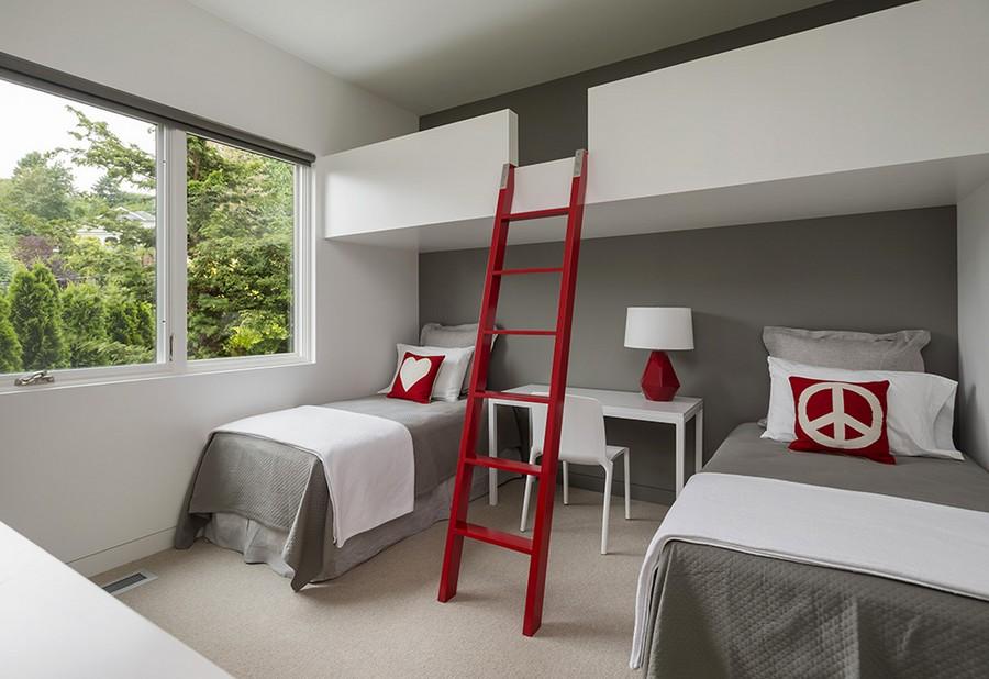 Loft bed design idea for the contemporary home