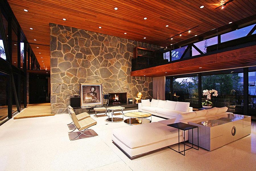 Lovely livng room after sunset