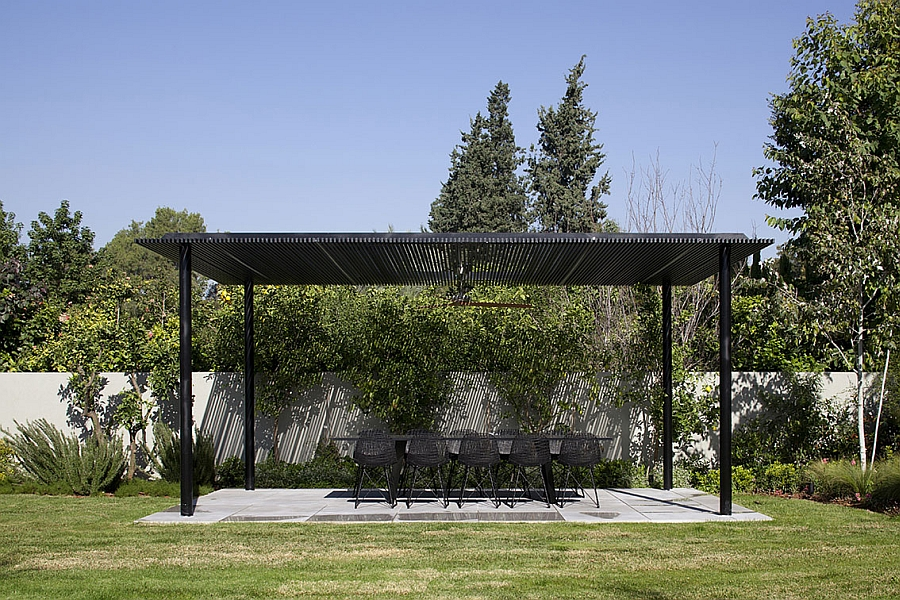 Lovely shaded pergola in the backyard