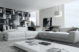 Luxurious contemporary couch in white