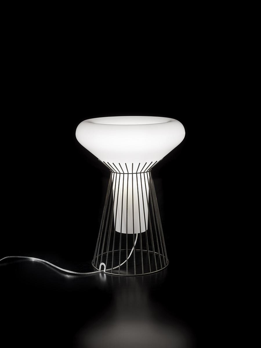Metafisica - Table Lamp in blown glass and metal