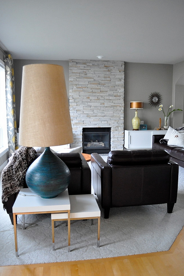 Oversized lighting floor and table lamps that leave you overwhelmed view in gallery mid century modern living room with oversized floor lamps mozeypictures
