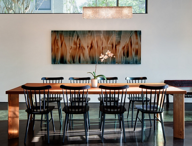 View In Gallery Minimal Dining Space With A Touch Of Traditional Charm
