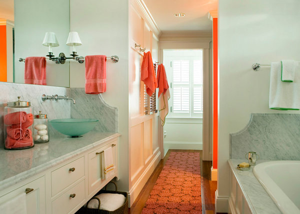 Mint green and salmon bathroom Three Unique Color Combinations To Enhance Your Interior