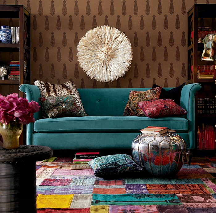 Mix and match colors to create a vibrant space