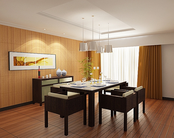 Minimalist dining room ideas designs photos inspirations for Asian dining room ideas