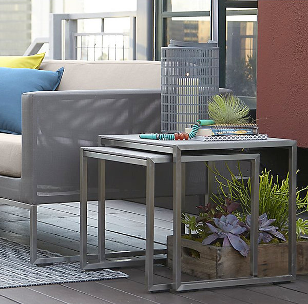 Outdoor Nesting Tables ~ Modern outdoor furniture finds