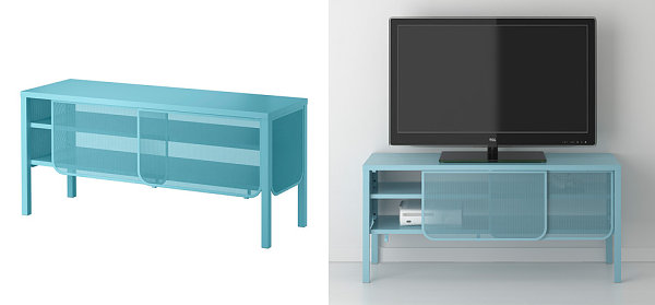 NITTORP TV unit in turquoise from IKEA