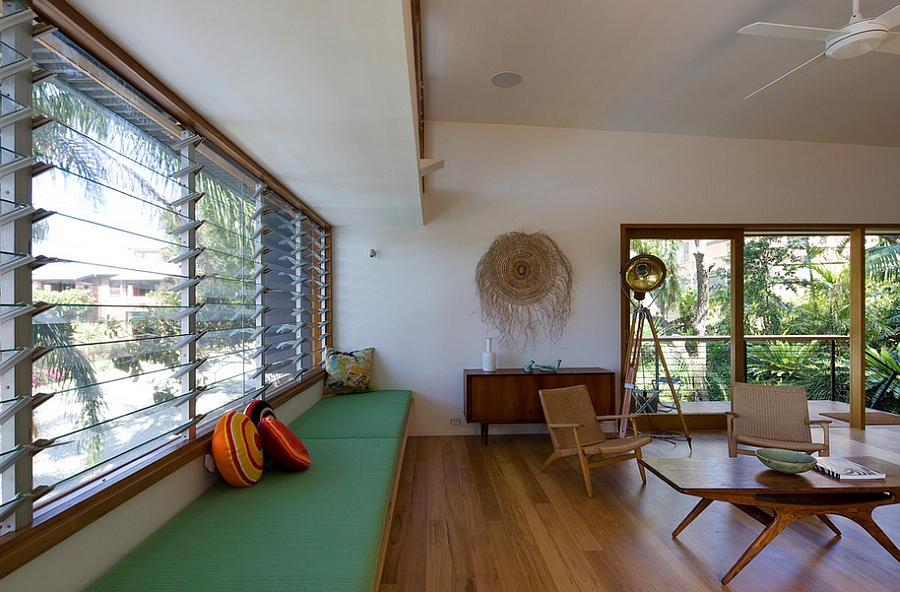 Open living room with plenty of natural ventilation